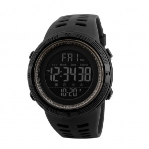 Skmei 1251 Men's Waterproof Digital Sports Watch with Backlight - Brown & Black Colour