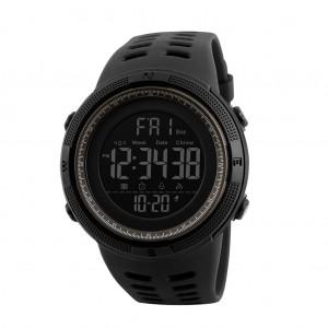 Skmei 1251 Men's Waterproof Digital Sports Watch with Backlight - Brown & Black Colour