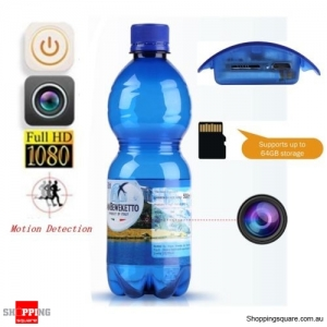 1080P Hidden Spy Water Bottle Shape Camera