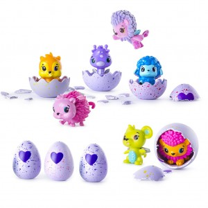 Hatching Animal Eggs Hatchable Toys for Kids - Pack of 4