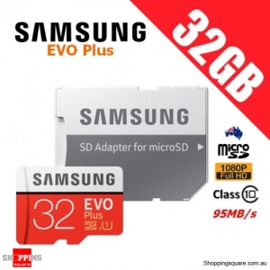 Samsung EVO Plus 32GB micro SD SDHC Memory Card UHS-I U1 95MB/s 4K Ultra HD with Adapter (2017)