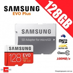 Samsung EVO Plus 128GB micro SD SDXC Memory Card UHS-I U3 100MB/s 4K Ultra HD with Adapter (2017)