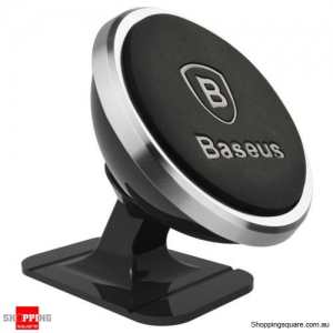 Baseus Universal Magnetic Mount Car holder For iPhone X 8 Plus 6s 7 Samsung S8 Silver Colour