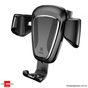 Baseus 360 Degree Universal Gravity Car Mount Air Vent Phone Holder Cradle for Cell Phone GPS Black Colour