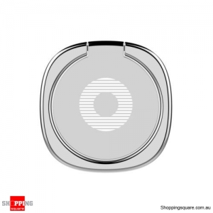 Baseus Privity Ring Bracket Universal 180 Degree Car Mount Phone Holder Stand Silver Colour