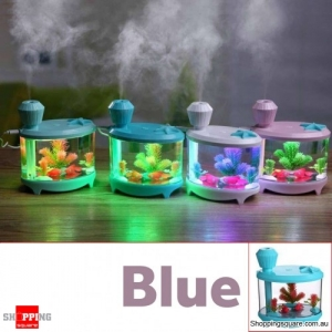 USB Colorful LED Daily Essential Oil Water Tank Ultrasonic Air Humidifier Aromatherapy Diffuser Blue Colour