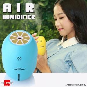 Mini Air Humidifier USB Light Lamp Lemon Steam Vaporiser for Car & Home Blue Colour