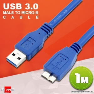 1M SuperSpeed USB 3.0 Male to Micro B USB Data Cable for HDD Hard Disk Drive Samsung S5