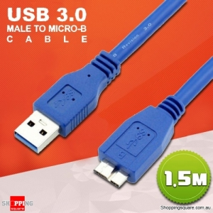 1.5M SuperSpeed USB 3.0 Male to Micro B USB Data Cable for HDD Hard Disk Drive Samsung S5