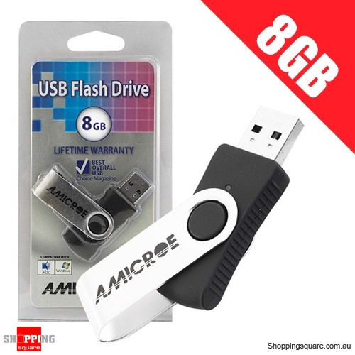 Amicroe 8GB USB 2.0 Swivel Flash Drive U Disk