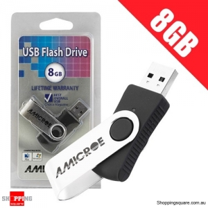 Amicroe 8GB USB 2.0 Swivel Flash Drive U Disk