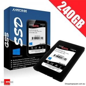 Amicroe 240GB SSD SATA III Hard Disk Drive AMI-SSD240A for Windows Linux