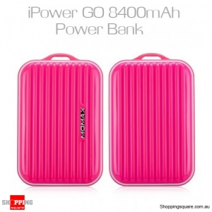 Momax iPowerGo Mini 8400mAh Power Bank - Pink Colour