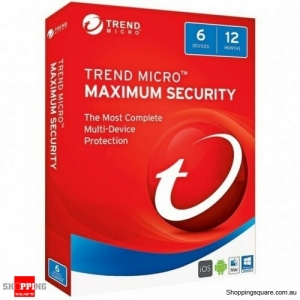 Trend Micro Maximum Security 12 Month 6 Devices for PC, Mac, iOS and Android