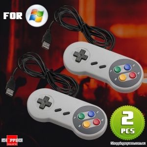 2Pcs of USB SNES Super Nintendo Style GamePad Controller for PC Mac Windows Emulator