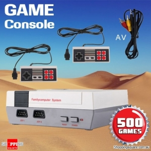 AV Classic Retro Vintage Style TV Game Console 500 Built-in Games NES 8Bit With 2 Gamepads