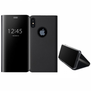 Mirror Window View Kickstand PC+TPU Case For iPhone X Black Colour