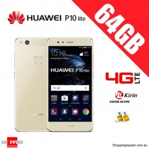 Huawei P10 Lite 64GB Dual WAS-TL10 4G LTE Unlocked Smart Phone Platinum Gold