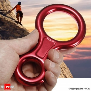 Aluminum Figure 8 Ring 30KN Climbing Hiking Rappel Descender for Outdoor Mountaineering
