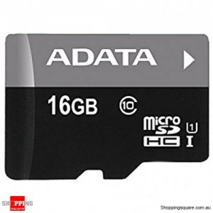 ADATA Class 10 Micro SDHC Memory Card TF Flash UHS-I for Mobile Phone - 16GB