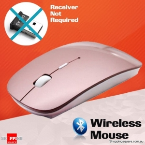 Bluetooth Wireless Mouse for Mac PC Pink Colour