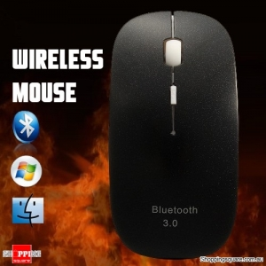 Wireless Bluetooth 3.0 Mini Slim 1600 DPI 3D Optical Mouse for Laptop PC Mac Black Colour