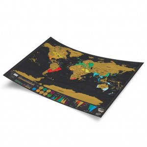 "16.7"" x 11.8"" Personalized Scratch Off World Map Poster"