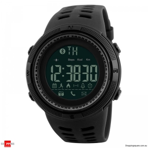 SKMEI 1250 Bluetooth Waterproof Sports Smart Watch Black colour