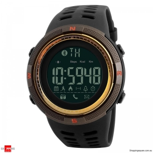 SKMEI 1250 Bluetooth Waterproof Sports Smart Watch Gold colour