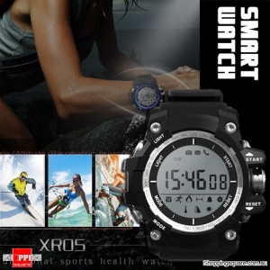XR05 30M Swimming Diving Waterproof Smart Watch with Pedometer for Sport Health Data Black Colour