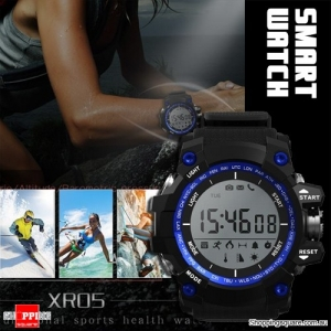 XR05 30M Swimming Diving Waterproof Smart Watch with Pedometer for Sport Health Data Blue Colour
