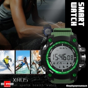 XR05 30M Swimming Diving Waterproof Smart Watch with Pedometer for Sport Health Data Green Colour