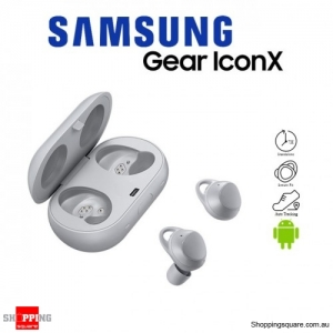 Samsung Gear Icon X 2018 SM-R140 Sport Fitness Bluetooth Wireless Earbuds Silver