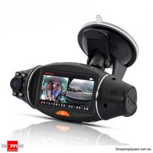 "2.7"" Dual Lens Car DVR Dash Camera with GPS G-Sensor Loop Recording Night Vision"