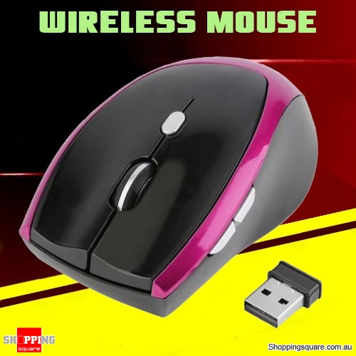2.4GHz 6 Buttons Wireless Gaming Mouse Mice with USB Receiver for PC Windows Notebook I5 Purple Colour