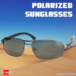 Polarized Outdoor Sunglasses with Dark Green Metal Frame for Outdoor Sports Travel Work