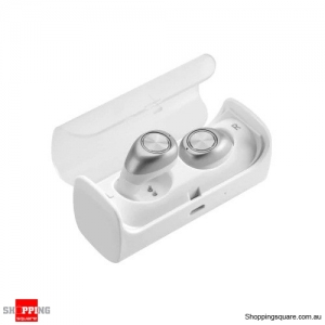 TWS-10 Bluetooth V4.2 True Wireless Stereo Surrounding Earphones with Recharging Organizer - Silver Colour