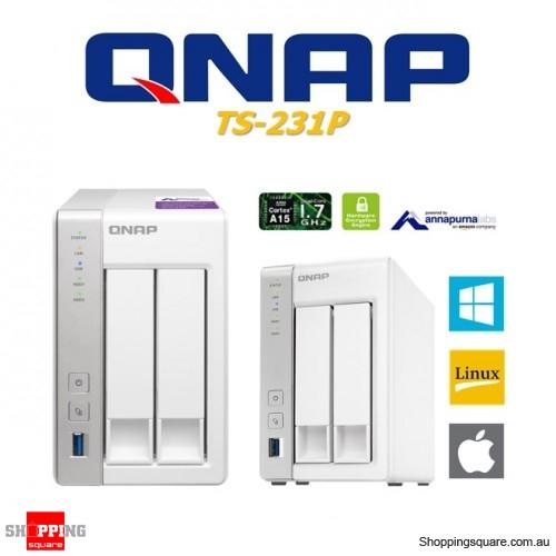 QNAP TS-231P 2 Bay NAS Dual Core Network Storage Home Server