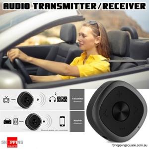 2 in 1 Wireless Bluetooth V5.0 Handsfree 3.5mm Audio Adapter Transmitter Receiver