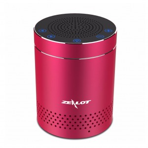 ZEALOT S15 Portable Aluminum Alloy Touch Control Bluetooth Speaker - Red Colour
