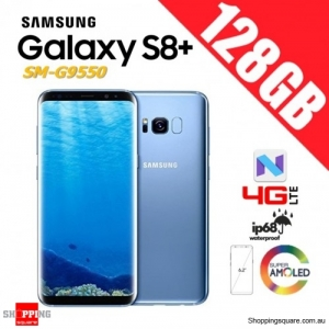 Samsung Galaxy S8+ 128GB G9550 Dual Sim 4G LTE Unlocked Smart Phone Coral Blue