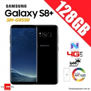 Samsung Galaxy S8+ 128GB G9550 Dual Sim 4G LTE Unlocked Smart Phone Midnight Black