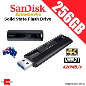 SanDisk Extreme Pro 256GB USB 3.1 Solid State Flash Drive Up to 420MB/s 4K Ultra HD Movies