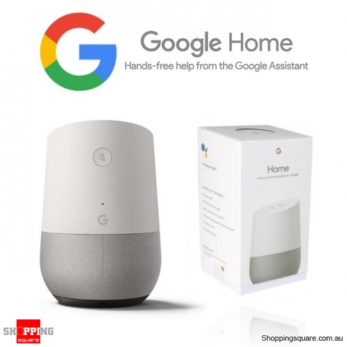Google Home WiFi Android iOS Smart Speaker Voice Assistant White Slate