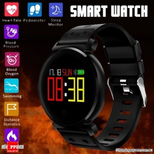K2 OLED HD Color Display Smart Watch Long Stand-by Time Blood Pressure Oxygen Monitor Swimming Sleeping Black Colour