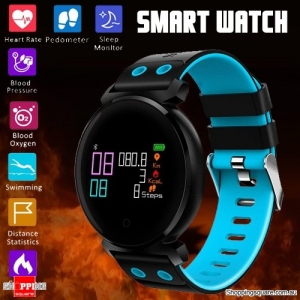 K2 OLED HD Color Display Smart Watch Long Stand-by Time Blood Pressure Oxygen Monitor Swimming Sleeping Blue Colour