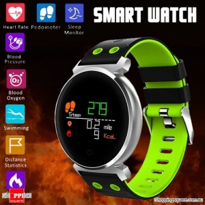 K2 OLED HD Color Display Smart Watch Long Stand-by Time Blood Pressure Oxygen Monitor Swimming Sleeping Green Colour