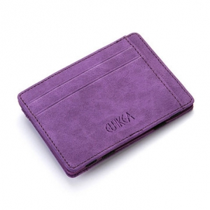 Men's PU Leather Wallet Credit Card Holder Purple Colour