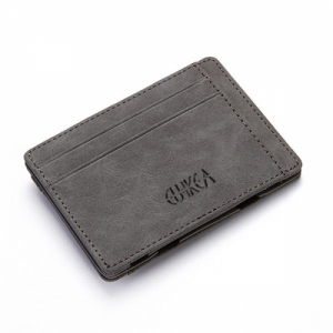 Men's PU Leather Wallet Credit Card Holder Grey Colour