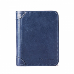 Men's RFID Blocking Secure Wallet Blue Colour